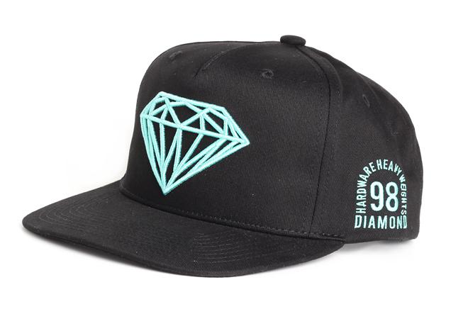 Diamond Brilliant Snapback Black / Turquoise