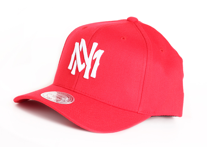 Mitchell & Ness High Crown Flexfit 110 Snapback Red