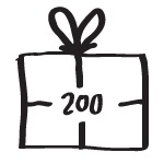 Boardvillage lahjakortti 200 EUR