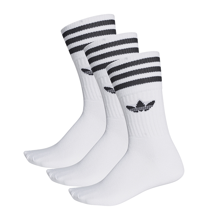 Adidas Solid Crew Sock 3-Pack White / Black