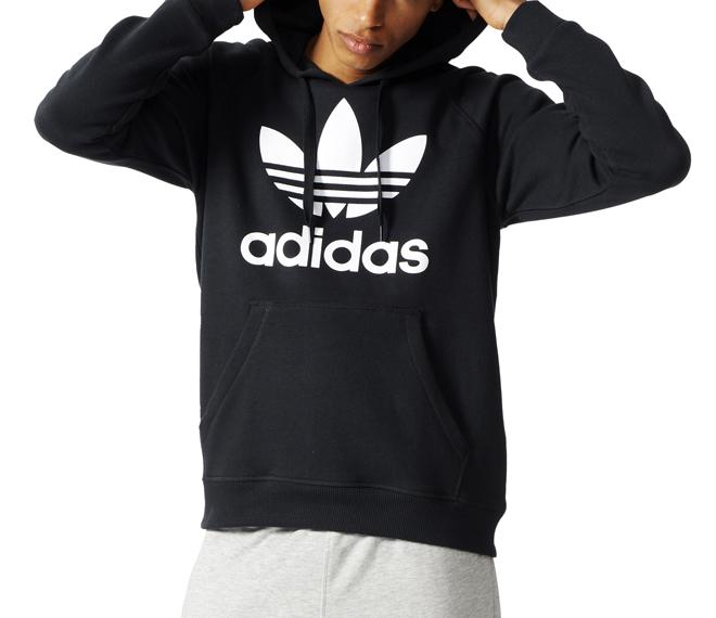 Adidas Originals Trefoil Hoodie Black - Boardvillage c4f4f0c511