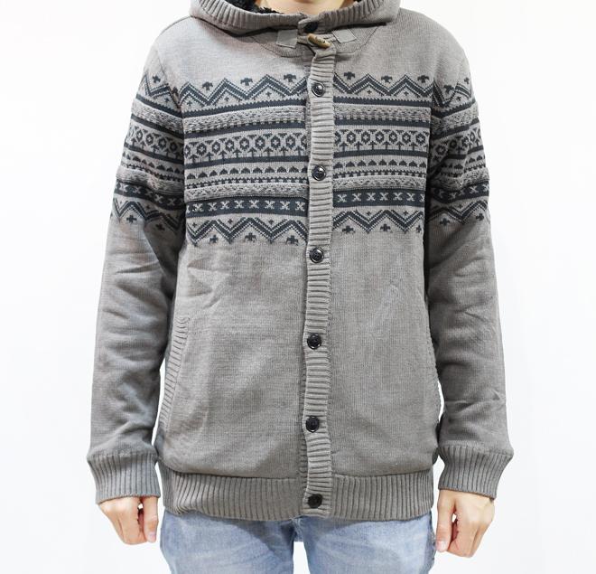 Volcom Kruz Hooded Sweater Heather Grey