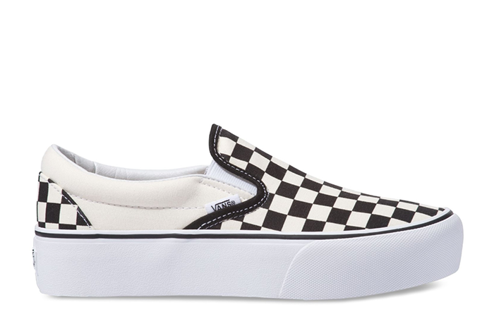 Vans Slip-On Platform Black / White Checkerboard