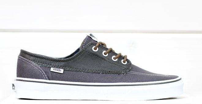Vans Brigata (Leather/Plaid) Asphalt / Beluga