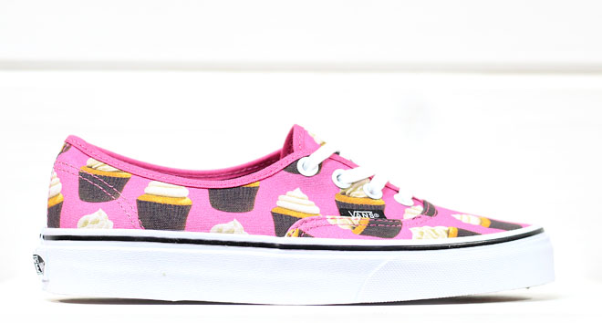 Vans Authentic (Late Night) Hot Pink / Cupcakes