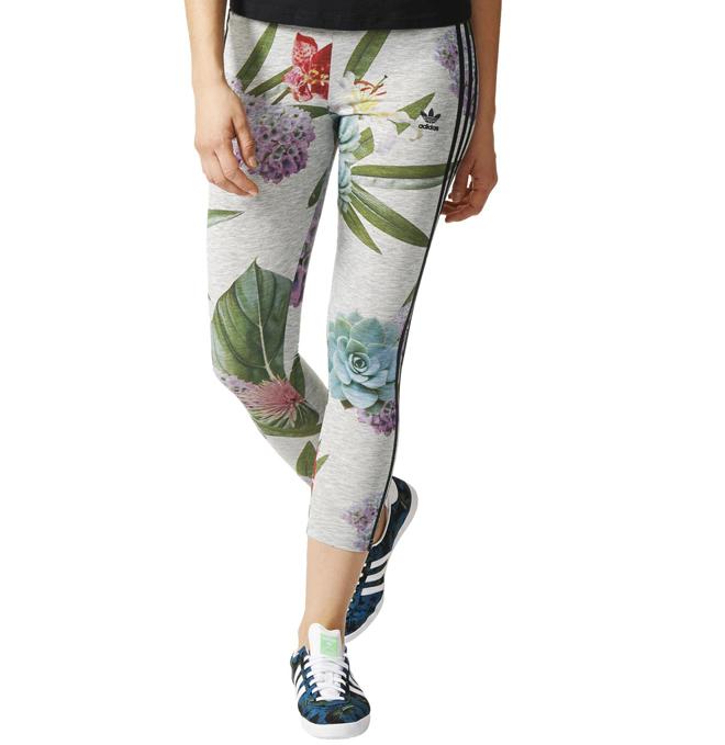 Adidas Train Leggings Grey / Floral
