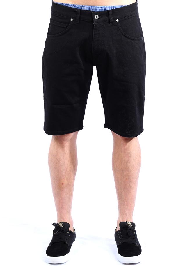Makia Denim Shorts Washed Black