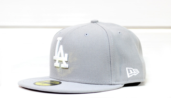 New Era MLB Los Angeles Dodgers Grey