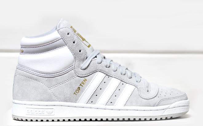 Adidas Top Ten Hi Light Grey / White