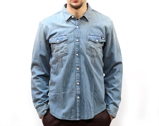 Dickies Penngrove Shirt Bleach Stonewash