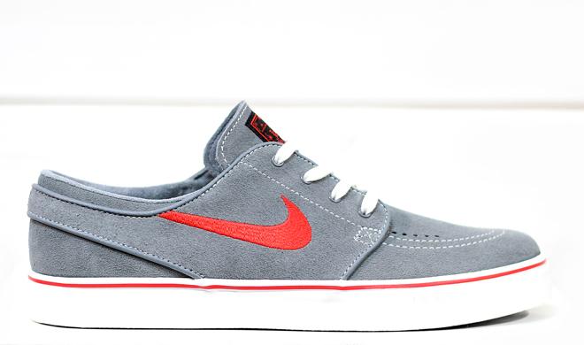Nike SB Janoski Grey / Black / University Red