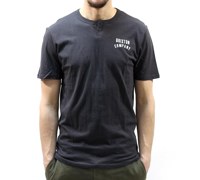 Brixton Woodburn Henley S/S Washed Black