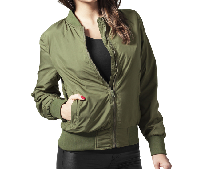 Urban Classics Womens Light Bomber Jacket Olive