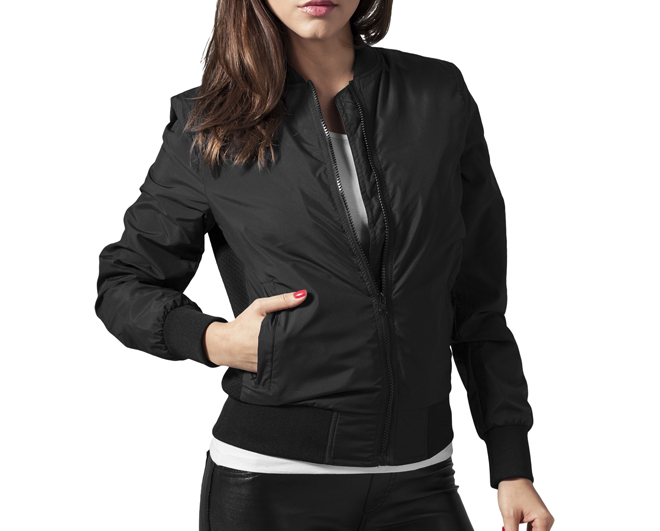 Urban Classics Womens Light Bomber Jacket Black