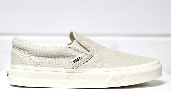 Vans Slip-On + (Snake Leather) Antique White