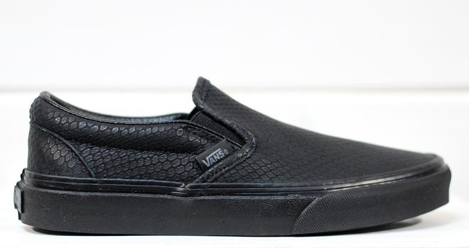 Vans Slip-On + (Snake Leather) Black