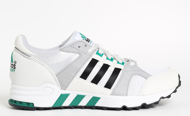 Adidas Equipment Running Cushion 93 Vintage White / Core Black / Sub Green