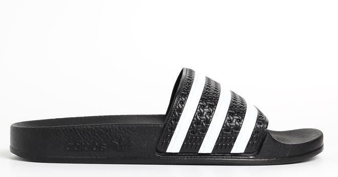 Adidas Adilette Slides Black / White