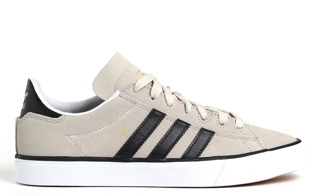 Adidas Campus Vulc II Mist Stone / Core Black / Gold Metallic