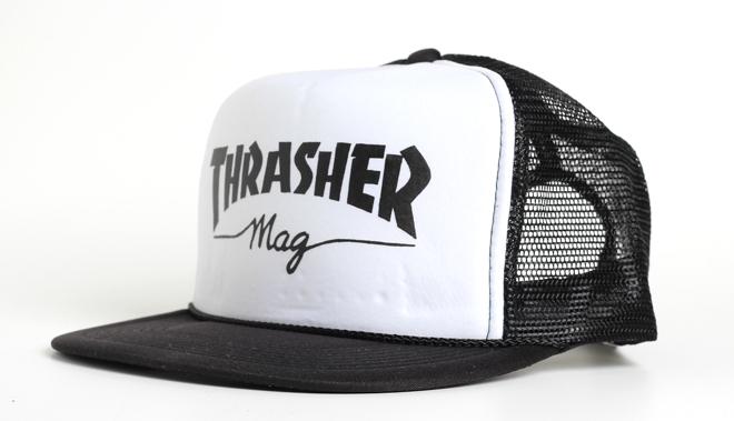 Thrasher Mag Logo Mesh Cap Black / White