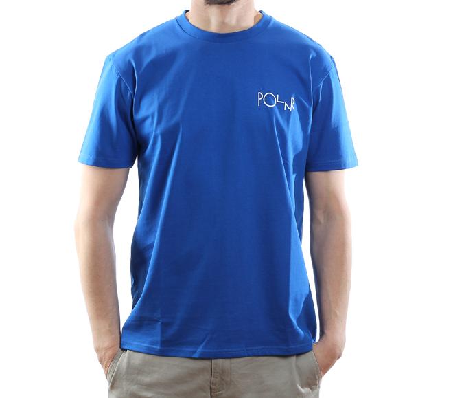 Polar Skate Co. Stroke Logo Tee 80's Blue
