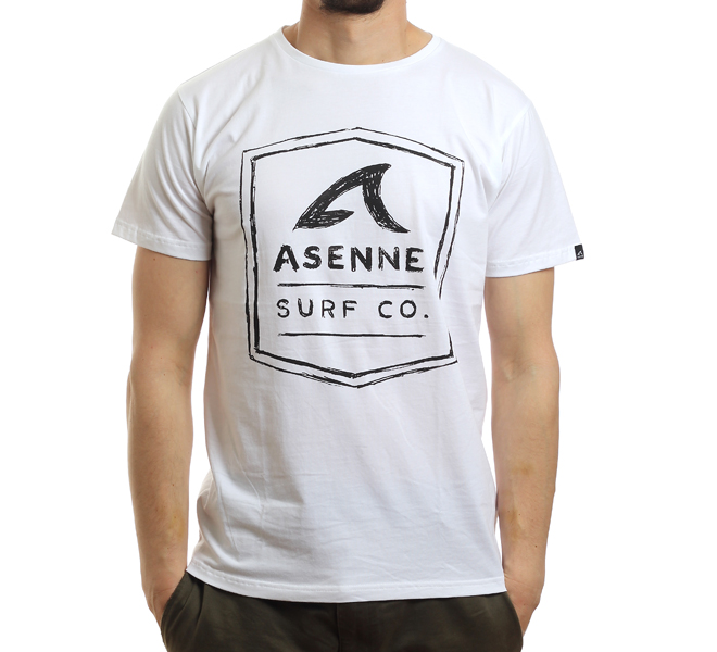 Asenne Pencil Logo Tee White