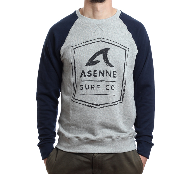 Asenne Pencil Logo Sweater Grey / Blue