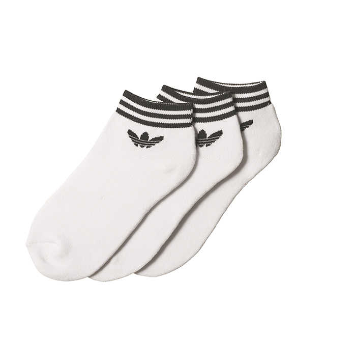 Adidas Trefoil Ankle Stripe Socks 3-Pack White
