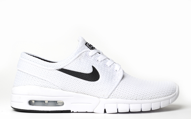 7526e2945341 Nike SB Janoski Max White   Black - Boardvillage