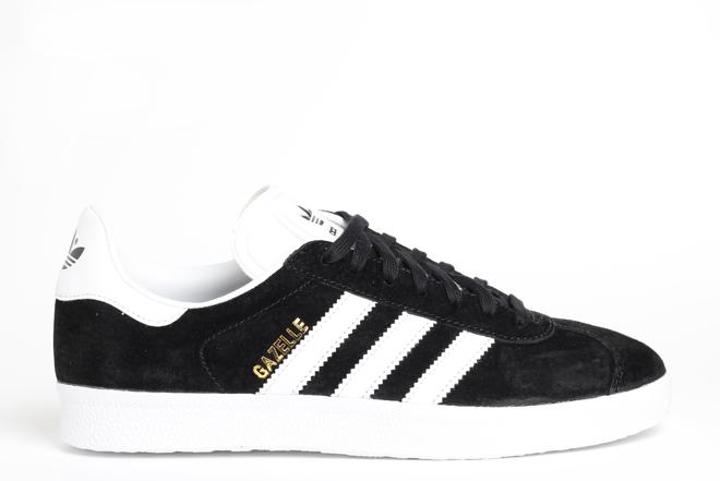 Adidas Gazelle Black / White / Gold Metallic