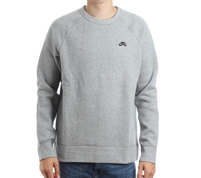 Nike SB Icon Crew Fleece Dark Grey Heather