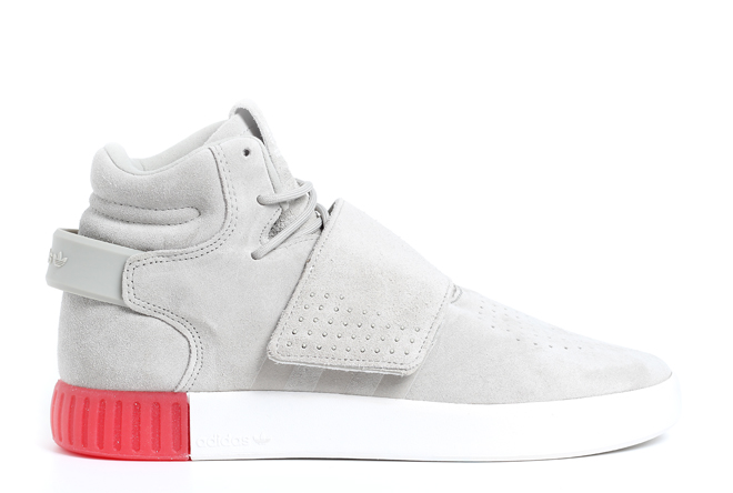 sale retailer 02187 8833c Adidas Tubular Invader Strap Shoe Sesame / Vivid Red - Boardvillage
