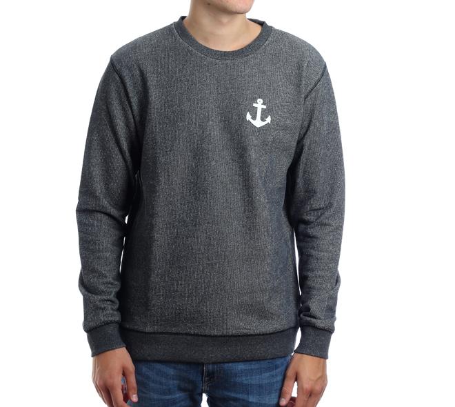 Makia Anchor Sweatshirt Grey