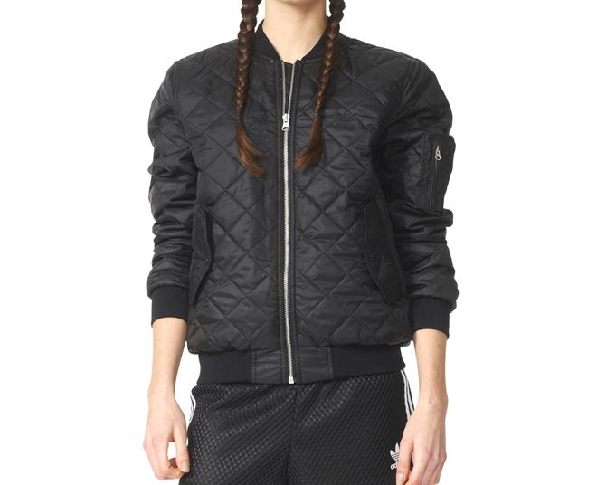 Adidas Womens Bomber Jacket Black
