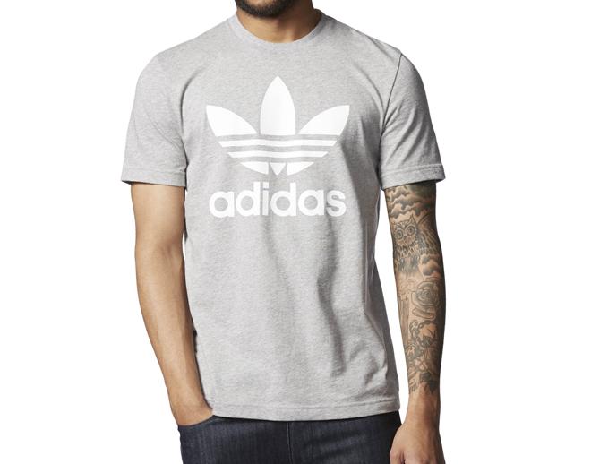 Adidas Originals Trefoil Tee Medium Grey Heather