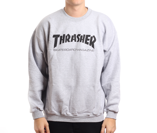 edfb4ad447a8 Thrasher Skate Mag Crew Grey - Boardvillage