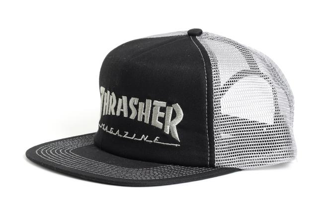 Thrasher Mag Logo Mesh Cap Embroidered Black / Grey