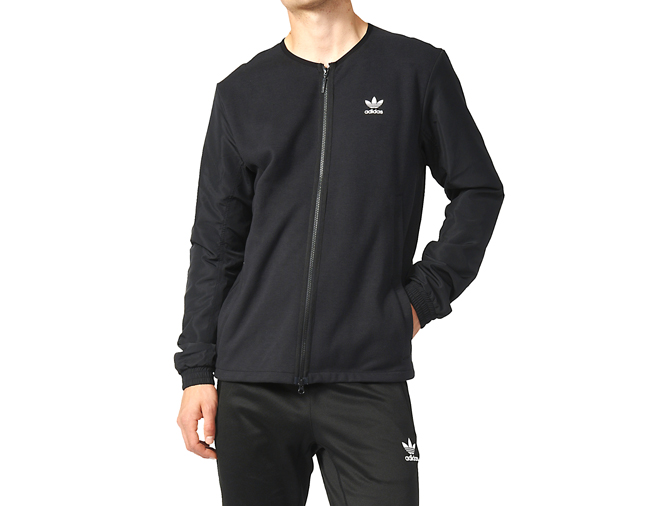 Adidas Black Woven Bomber Jacket