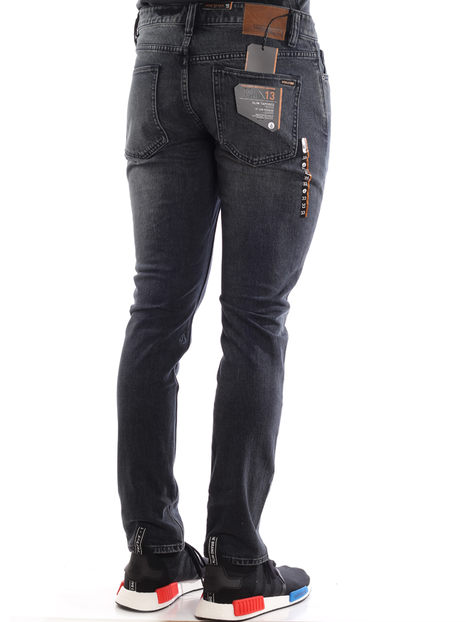 Volcom Vorta Tapered Jeans Blue Black