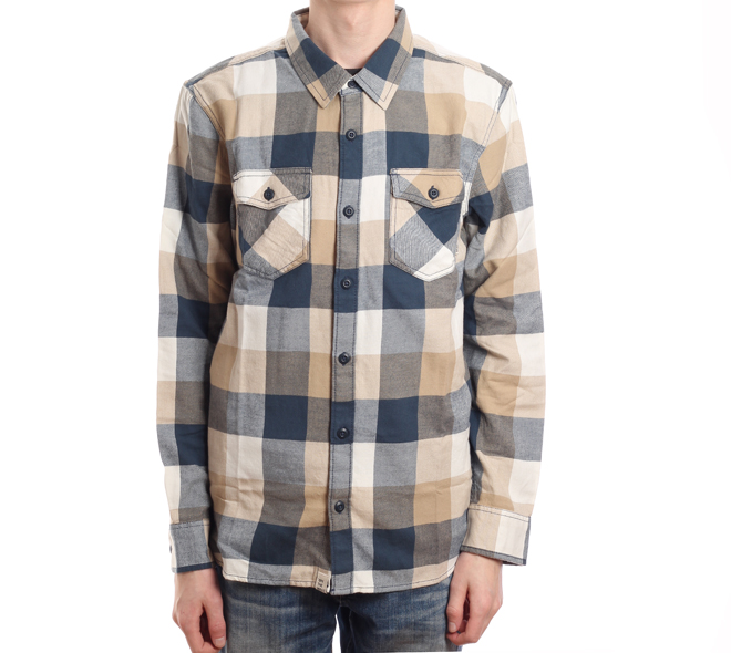 Vans Box Flannel Khaki / Midnight Navy