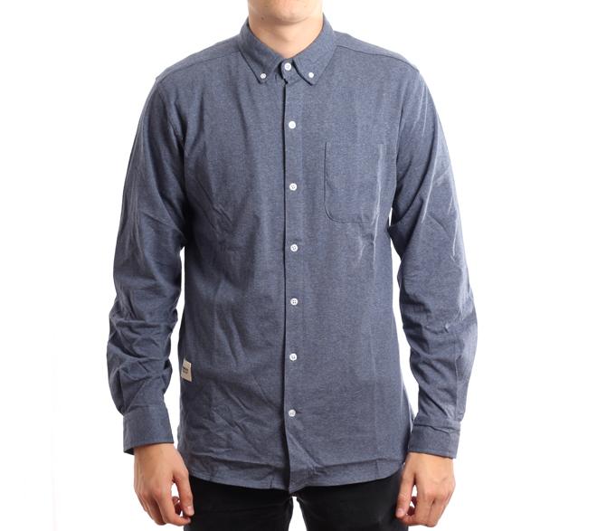 Wemoto Shaw Shirt Indigo Melange