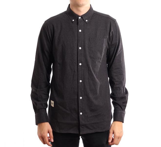 Wemoto Shaw Shirt Black Melange