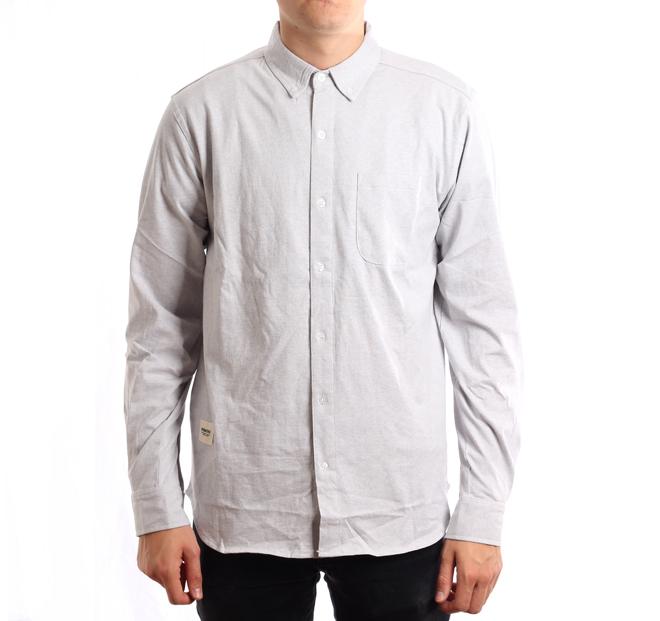 Wemoto Shaw Shirt Grey Melange