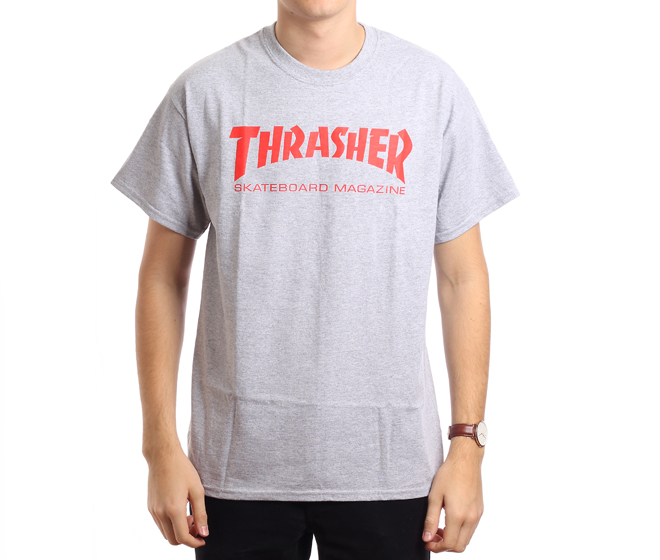 Thrasher Skate Mag Tee Grey / Red