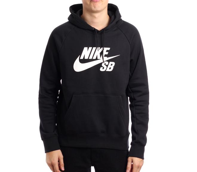 Nike SB Icon Hoodie Black / White