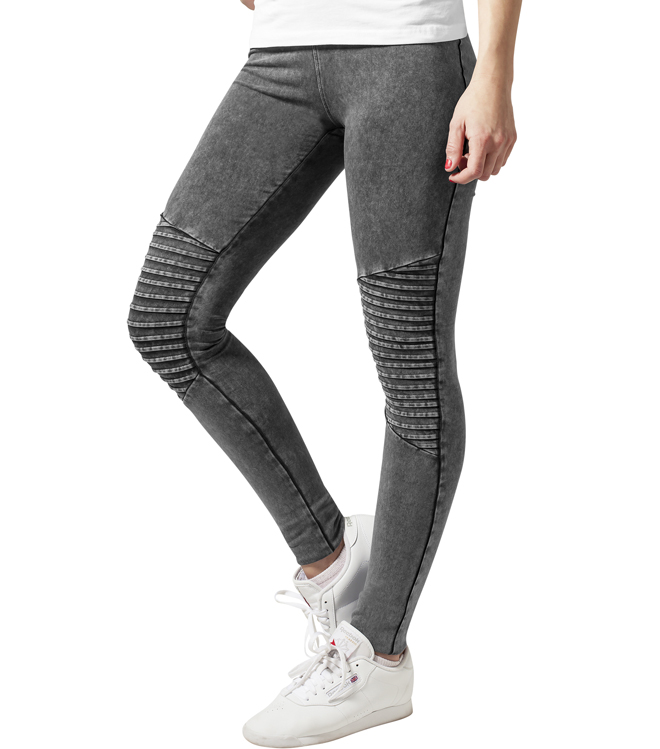 Urban Classics Womens Denim Jersey Leggings Dark Grey