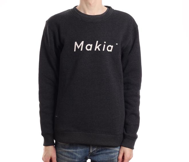 Makia Italic Sweatshirt Black
