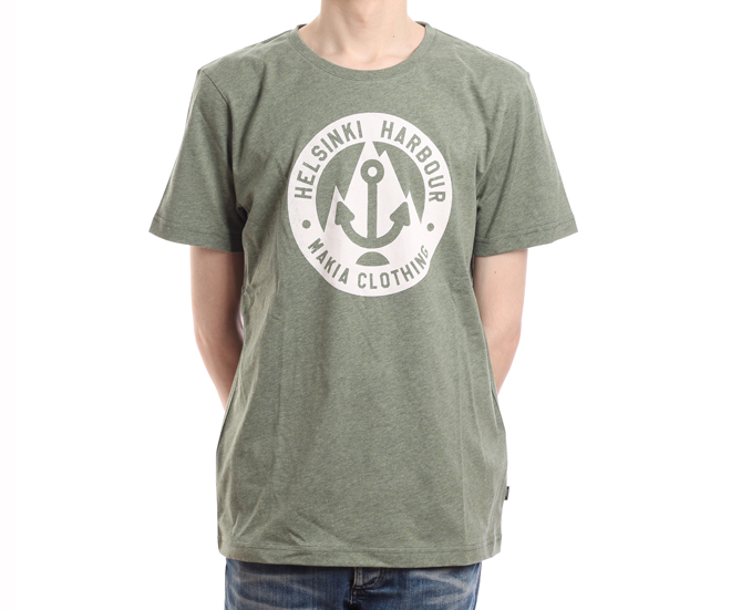 Makia Harbour Tee Green