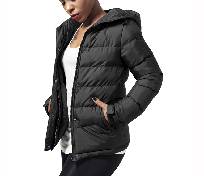 Urban Classics Womens Bubble Jacket Black