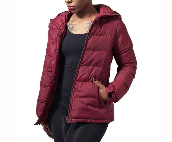 Urban Classics Womens Bubble Jacket Burgundy